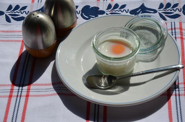 Eieren koken in weckpotje