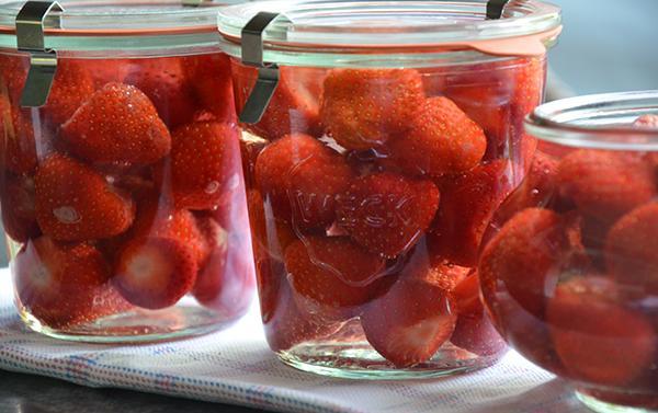 Aardbeien inmaken