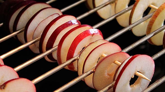 Appels drogen in de oven