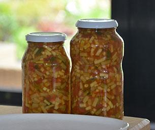 Courgette met tomaten inmaken