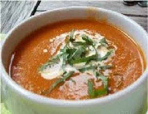 Courgettesoep met tomaten