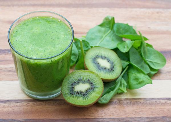 Kiwi spinazie smoothie