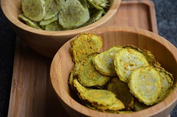Komkommerchips_maken