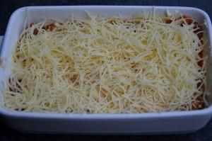 Lasagne klaar voor de oven