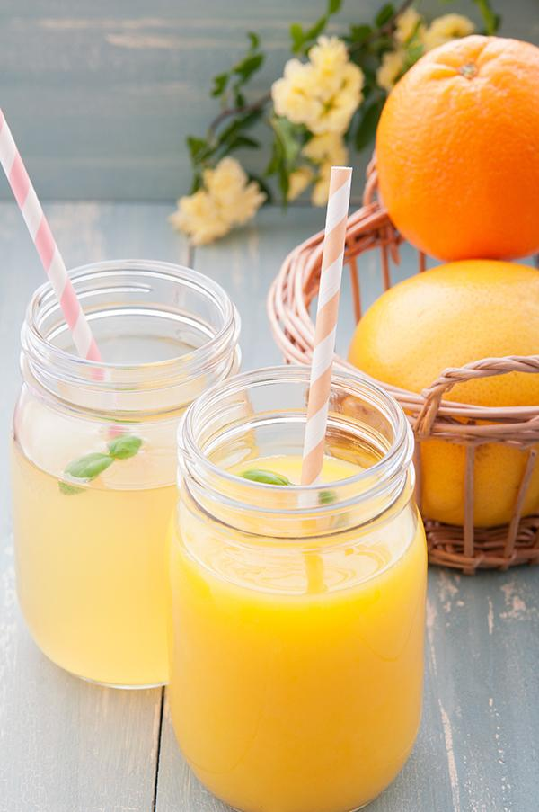 Limoen- sinaasappelsap