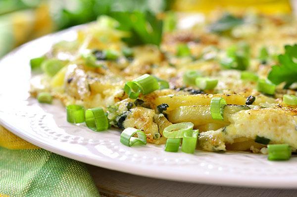 Omelet met lente ui