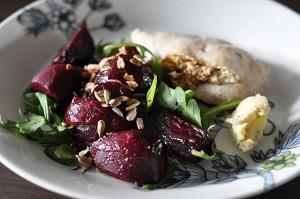 Bieten heerlijk in een salade met feta