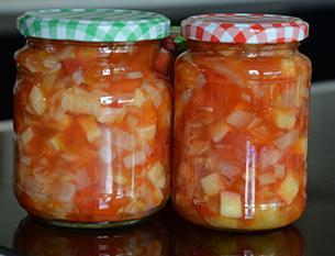 Tomatenchutney met appel en ui