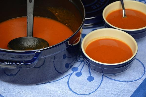 Tomatensoep met gedroogde tomaten