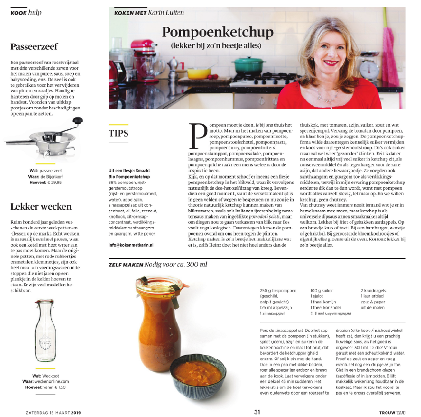 WECKENonline in Dagblad Trouw