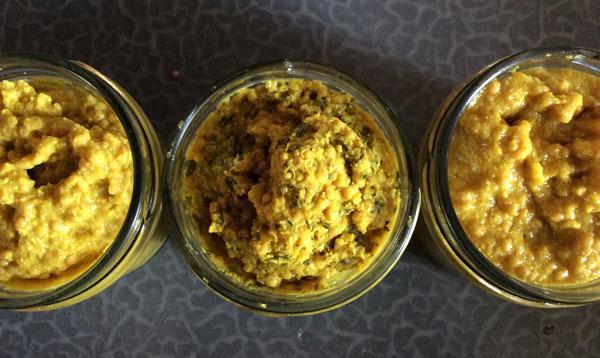Mosterd met honing, tijm en kurkuma