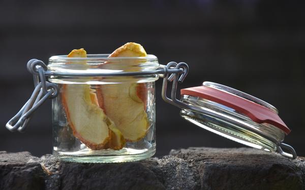 Appels drogen met een infrarood droogoven