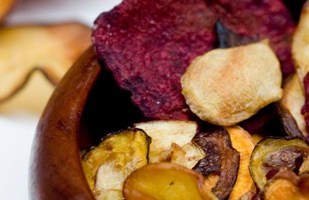Chips maken met de voedseldroger