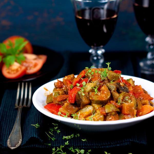 Ratatouille voor slow-cooker en kookpan