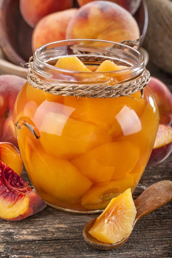 Perziken met Apricot brandy