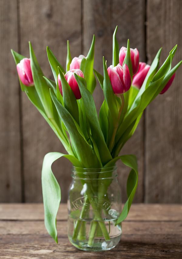 weckpot als bloemenvaas
