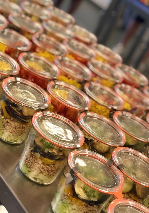 Salades in weckpotten van WECK