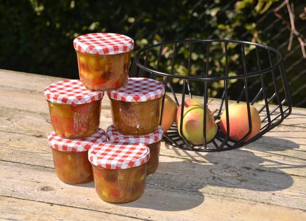 Appelchutney met paprika, ui en rozijnen