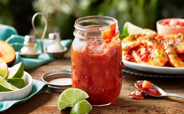 Tomaten- pruimen salsa