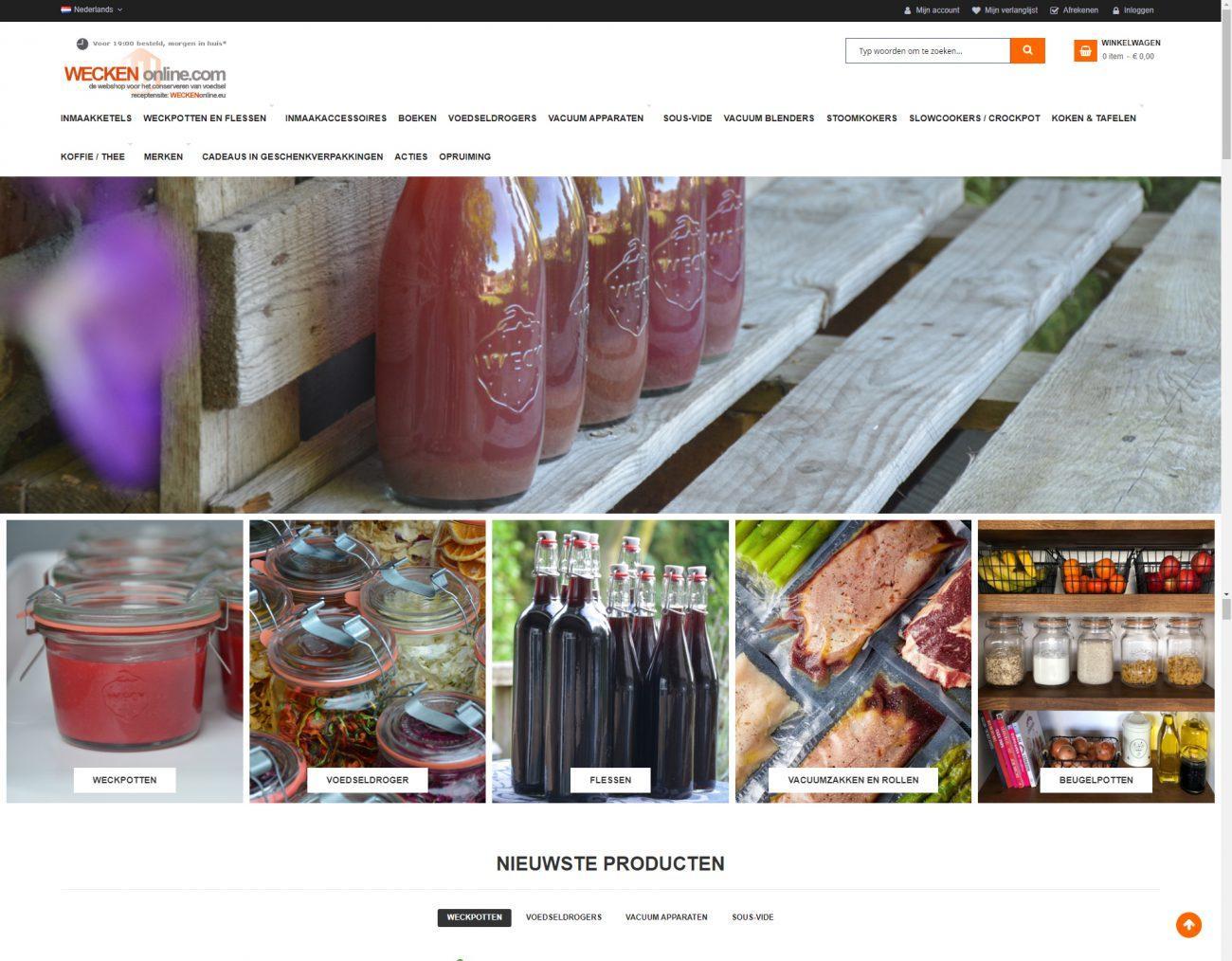 Nieuwe webshop WECKENonline