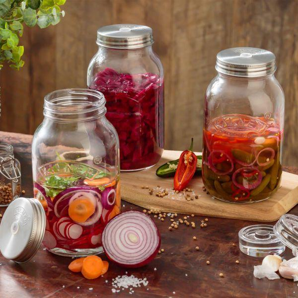 Kilner fermenteer potten 2 van 1 liter