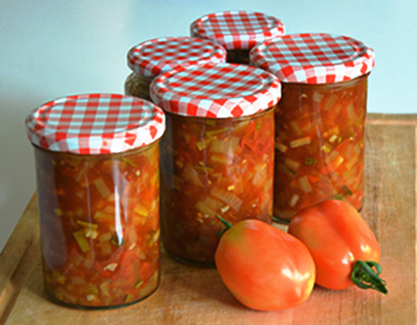 Tomatenchutney met courgette