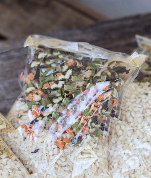 Kant en klaar risotto uit de voedseldroger